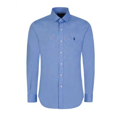 Blue Slim-Fit Formal Shirt