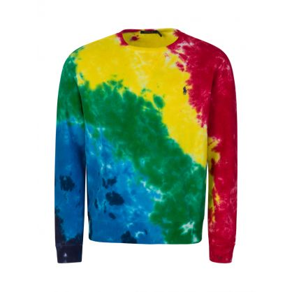 Multicolour Tie-Dye Terry Cotton Sweatshirt