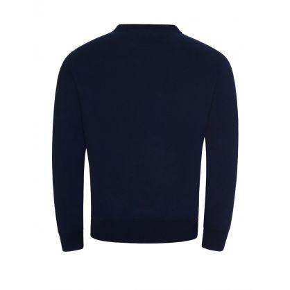 Navy Polo Bear Fleece Sweatshirt