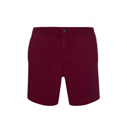 Red Twill Prepster Shorts