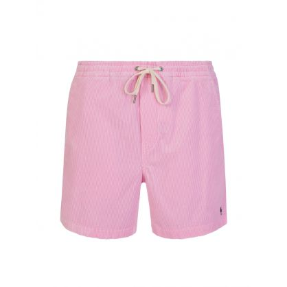 Pink Classic-Fit Corduroy Prepster Shorts