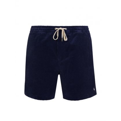 Navy Classic-Fit Corduroy Prepster Shorts
