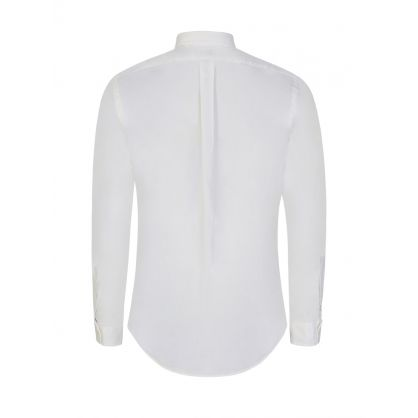 White Garment-Dyed Chino Shirt