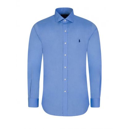 Blue Slim Fit Poplin Shirt