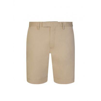 Khaki Slim-Fit 24.1cm Stretch Chino Shorts