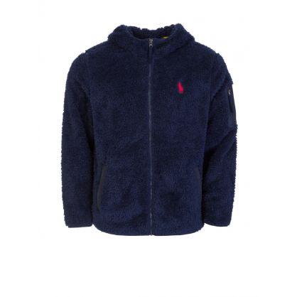 Navy Fleece Zip-Through