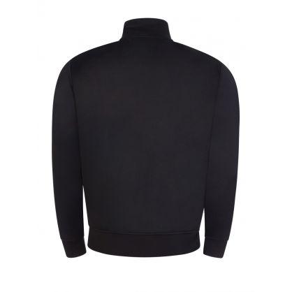 Black Logo Zip-Through Jacket