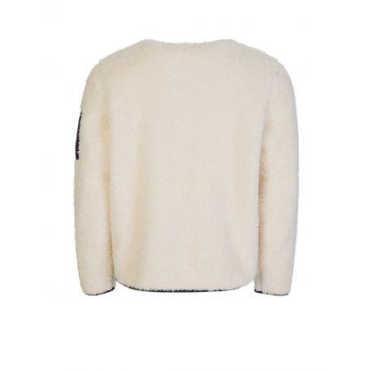 Cream Sherpa Fleece Utility Pullover