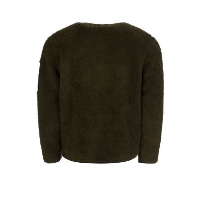 Green Sherpa Fleece Utility Pullover