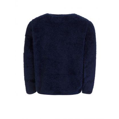 Navy Sherpa Fleece Utility Pullover