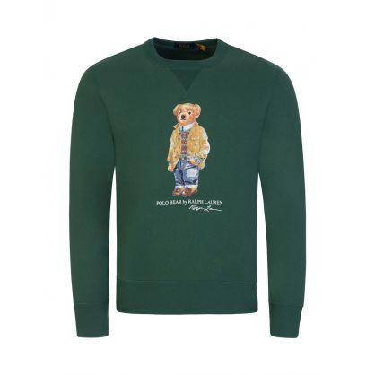 Green Fleece Bear Sweatshirt