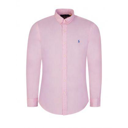 Pink Cotton Twill Shirt