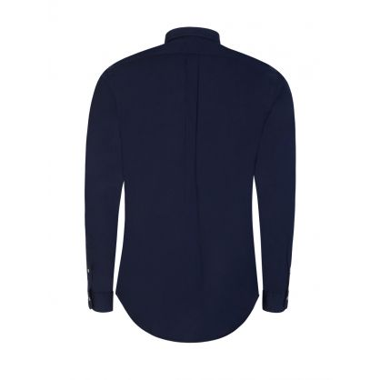 Navy Slim-Fit Featherweight Twill Shirt