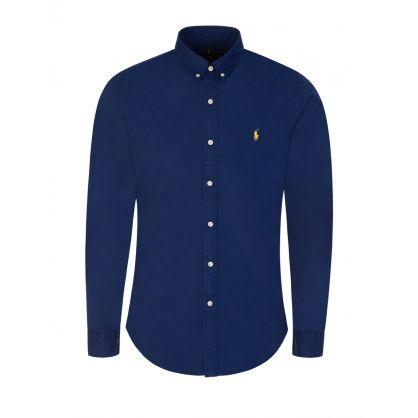Navy Featherweight Slim Fit Shirt