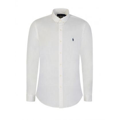 White Twill Cotton Shirt