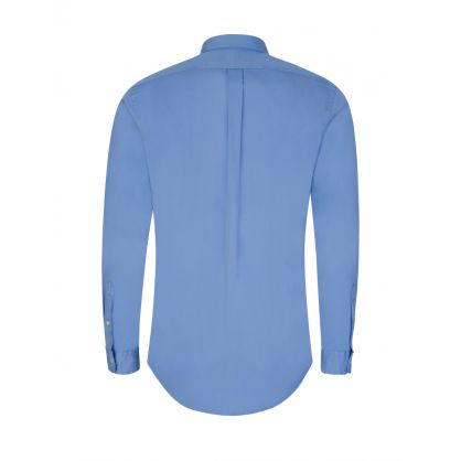 Blue Slim-Fit Featherweight Twill Shirt