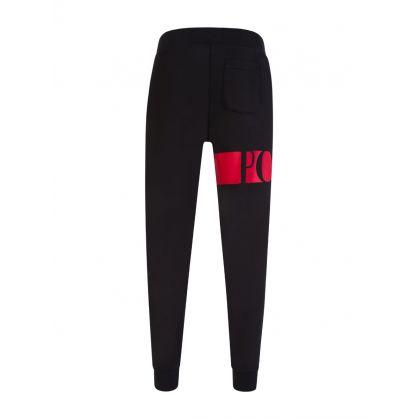 Black Double Knit Sweatpants
