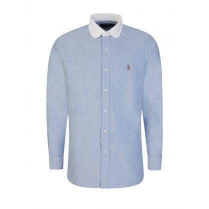 Blue Custom Fit Oxford Shirt