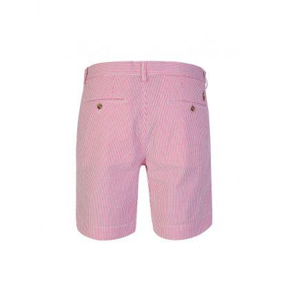 Pink/White Bedford Shorts