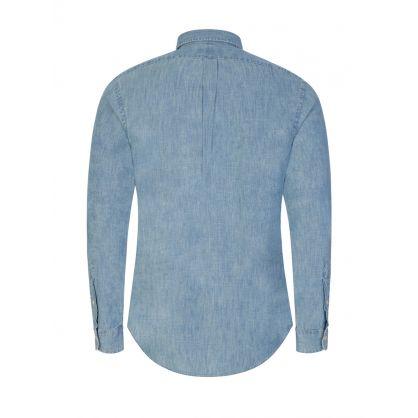 Light Indigo Slim Fit Cotton Shirt