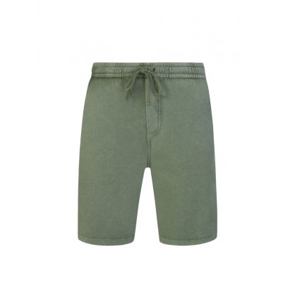 Green Washed Terry Shorts