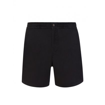Black Twill Prepster Shorts