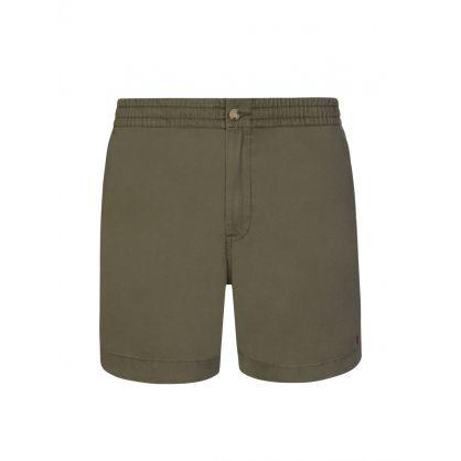 Green Twill Prepster Shorts