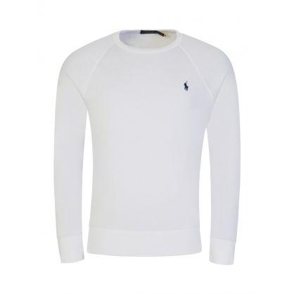 White Spa Terry Sweatshirt