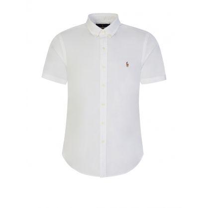 White Slim-Fitting Oxford Shirt