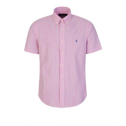 Pink Seersucker Shirt