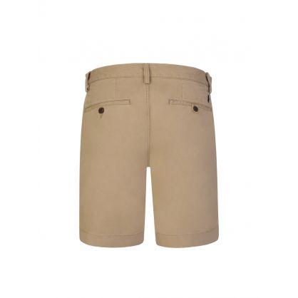 Khaki Twill Bedford Shorts
