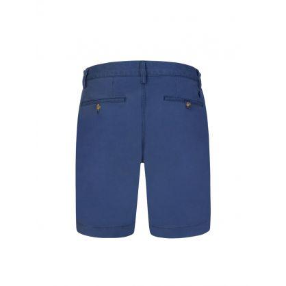 Blue Twill Bedford Shorts
