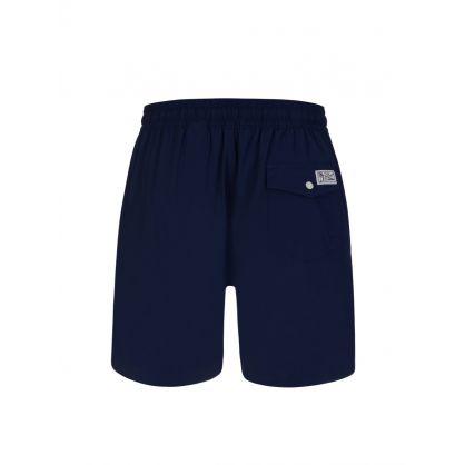 Navy Traveller Mid-Length Swim Shorts