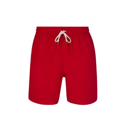 Red Mid-Length Traveller Swim Shorts