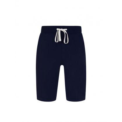 Navy Tape Logo Lounge Shorts