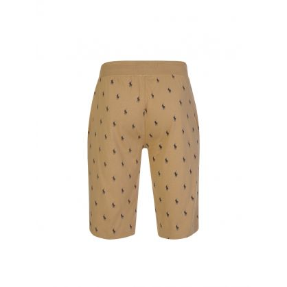 Brown Allover Pony Lounge Shorts
