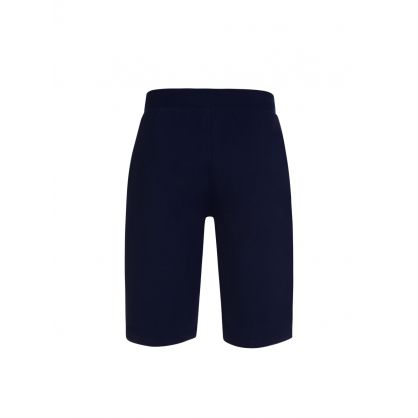 Navy Cotton Jersey Lounge Shorts