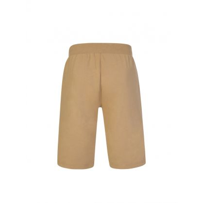 Khaki Slim-Fit Cotton-Blend Sleep Shorts