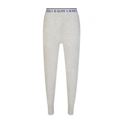Grey Cotton Jersey Lounge Shorts
