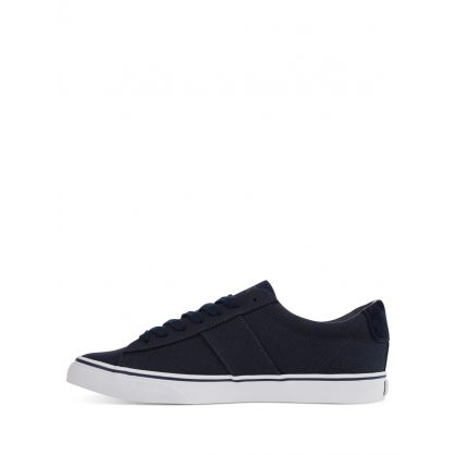 Navy Blue Sayer Canvas Trainers