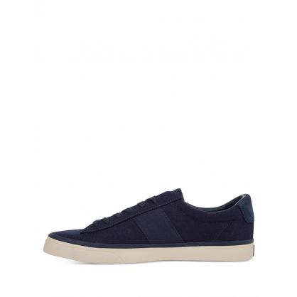 Navy Sayer Canvas Trainers