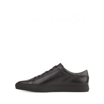 Black Leather Jermain Trainers