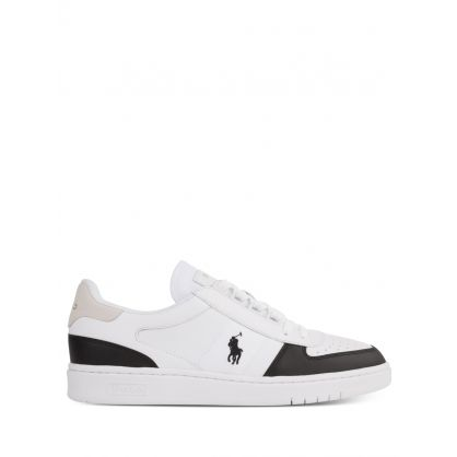 White/Black Low-Top Court Trainers