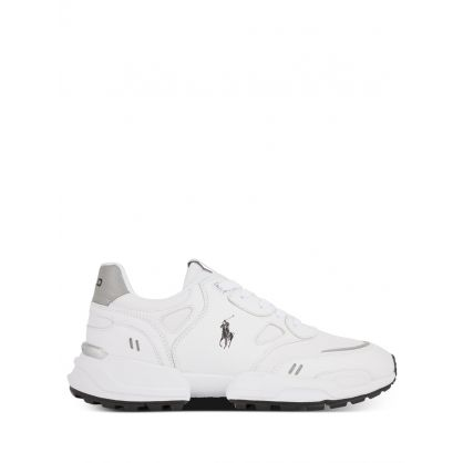 White Jogger Leather-Panelled Trainers