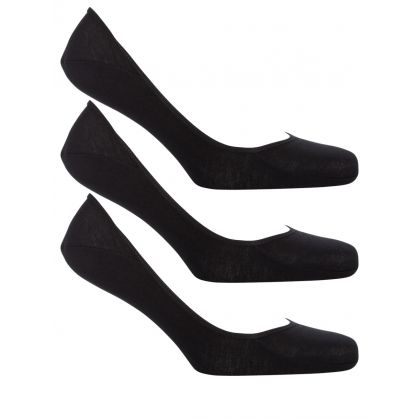 Black No-Show Socks 3-Pack