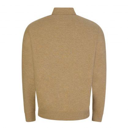Tan Half-Zip Sweatshirt