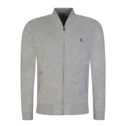 Grey Zip-Through Bomber Sweatshirt