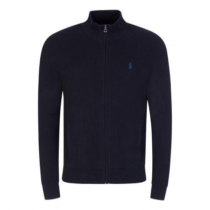 Navy Zip-Through Sweatshirt