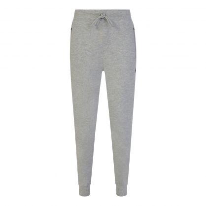 Grey Double-Knit Sweatpants