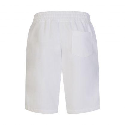 White Fleece Pony Logo Shorts